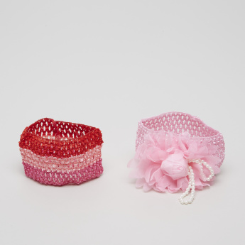 Charmz 2-Piece Embellished Fabric Hair Bands