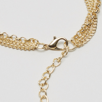 Charmz Metallic Anklet with Lobster Clasp