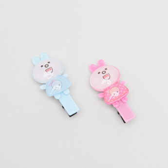 Charmz Hair Clip with Bunny Applique - Set of 2
