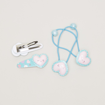 Charmz Heart Applique Detail 4-Piece Hair Accessory Set