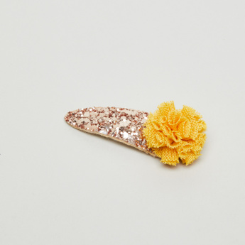 Charmz Glitter and Flower Detail Hairpin