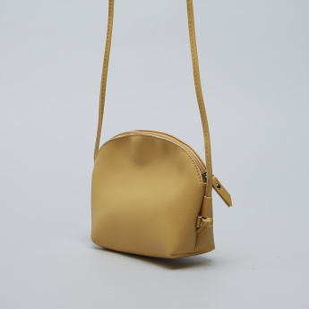 Charmz Cutout Detail Sling Bag with Zip Closure