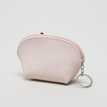 Charmz Applique Detail Coin Pouch with Zip Closure