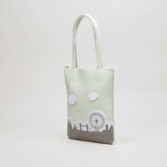 Charmz Tote Bag with Patch Applique