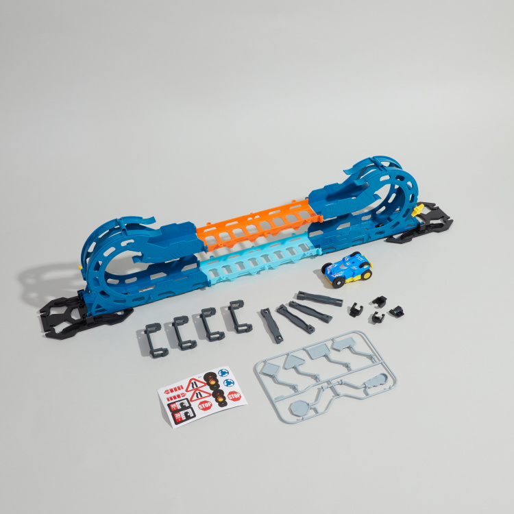 Super Racer 23-Piece Track with Tumbling Car