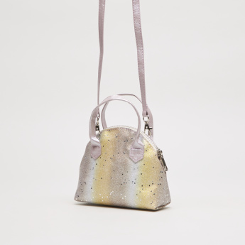 Charmz Glitter Crossbody Bag with Top Handles