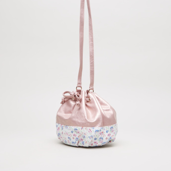 Charmz Printed Bucket Bag with Drawstring