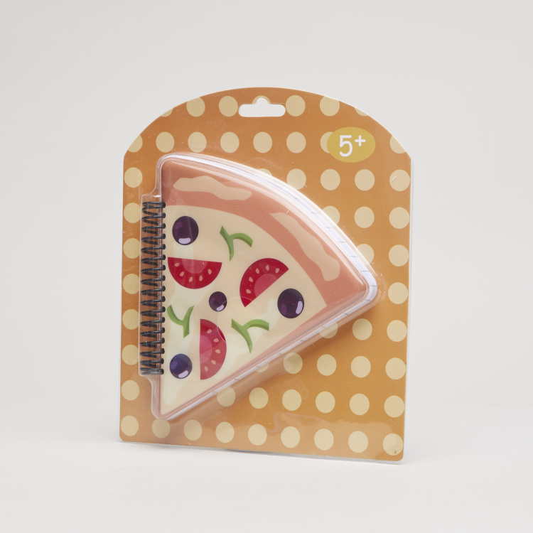 Juniors Pizza Shaped Spiral Bound Notebook