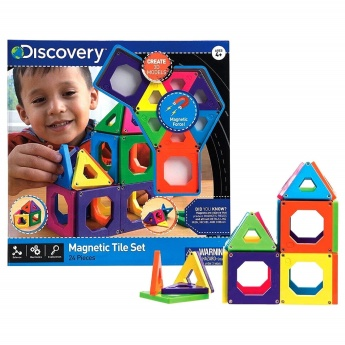 Discovery Magnetic 24-Piece Tile Playset