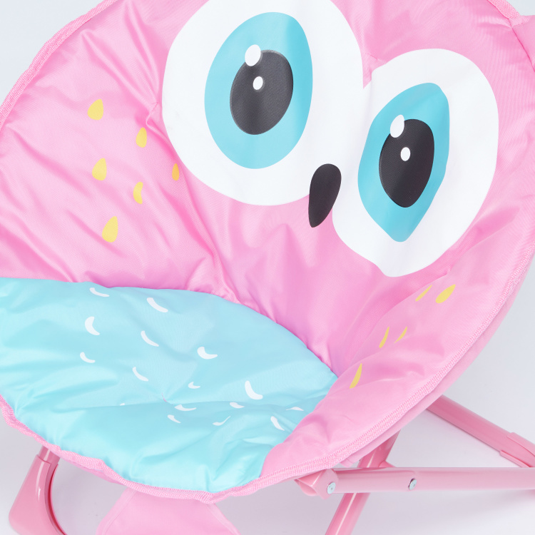 Juniors Owl Printed Moon Chair