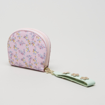 Charmz Printed Coin Bag with Embellished Wrist Strap