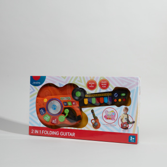 Juniors 2-in-1 Musical Folding Toy Guitar
