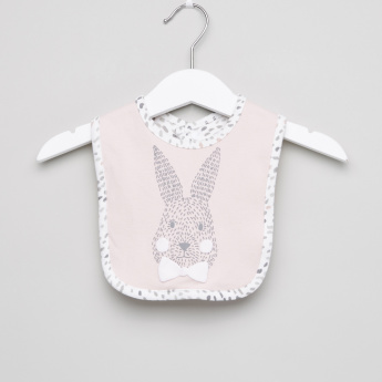 Juniors Printed Bib with Bow Applique