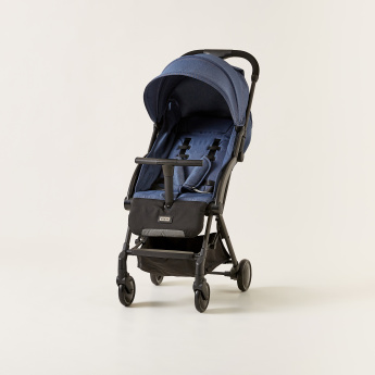 Giggles Porter Baby Denim Stroller with Swivel Wheels