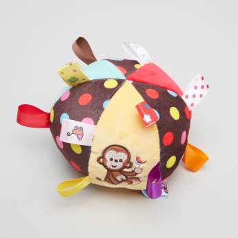 Juniors Monkey Embroidered Soft Ball