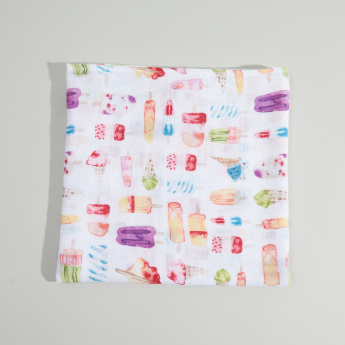Little Unicorn Printed Muslin Swaddle Blanket - 120x120 cms