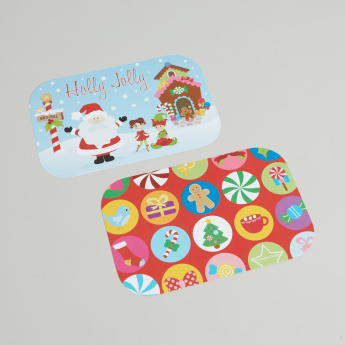 Yubo Holly Jolly Printed Face Plate - Set of 2