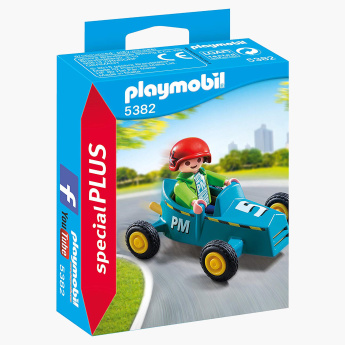 Playmobil Boy with Go-Kart Playset