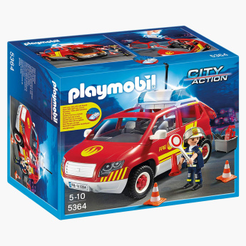Playmobil Fire Chief S Car with Lights and Sound