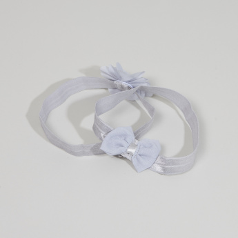 Juniors Bow Applique Headband - Set of 2