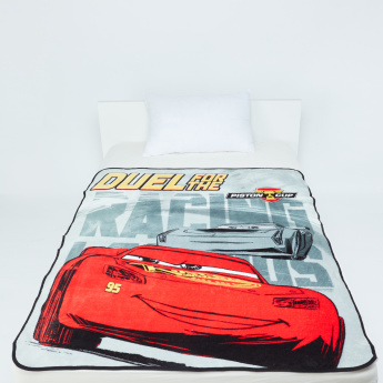 Cars Printed Coral Fleece Blanket - 120x140 cms