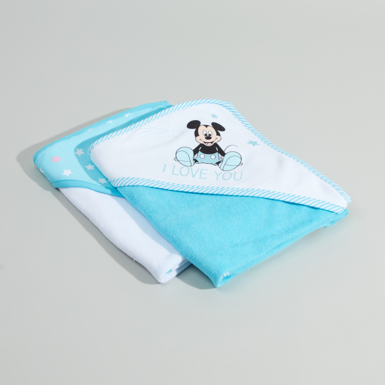 Mickey Mouse Printed 2-Piece Towel - 61x92 cms