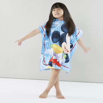 Mickey Mouse Printed Hooded Bath Poncho – 60x115 cms