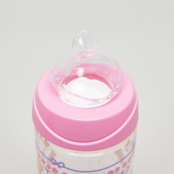 Suavinex Biscuits Printed Feeding Bottle with Lid - Buy 1 Get 1 Free