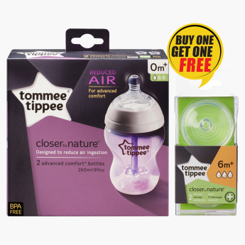 Tommee Tippee Feeding Bottles with Free Teats