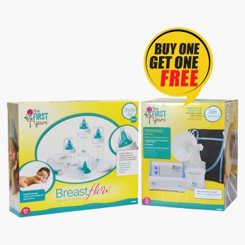 The First Years Breast Pump with Free  Starter Set