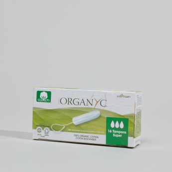 ORGANYC Cotton Super Tampons - Set of 16