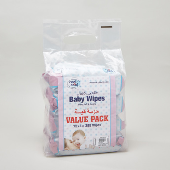 Cool & Cool Baby Wipes Value Pack - 288 Wipes
