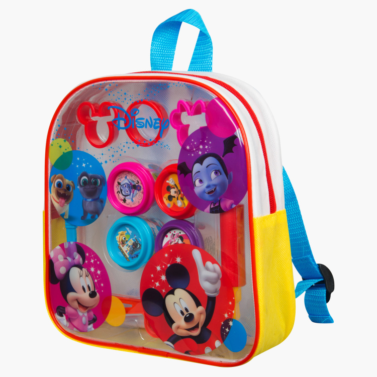 Disney Printed 10-Piece Dough Playset with Backpack