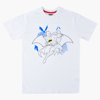 Color N Wear Batman Printed T-shirt with Colouring Kit