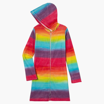 3C4G Rainbow Hooded Cover Up