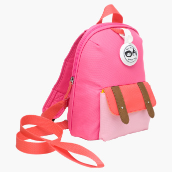 Zip and Zoe Printed Mini Backpack with Safety Harness - 10x8x3 inches