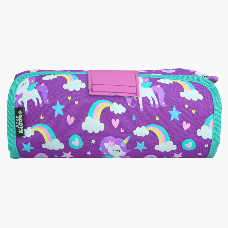 Smily Kiddos Printed Pencil Case with Snap Closure