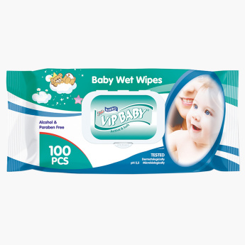 Bebiko VIP Baby Alcohol Free 100-Piece Active and Soft  Wet Wipes
