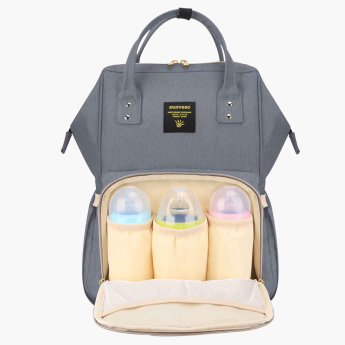 Sunveno Embroidered Backpack with Zip Closure