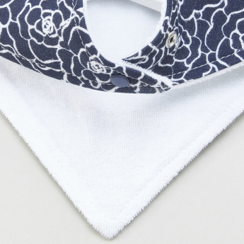 Hudson Baby Printed Bandana Bibs - Set of 4