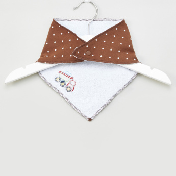 Luvable Friends Embroidered Triangular Bib - Set of 2
