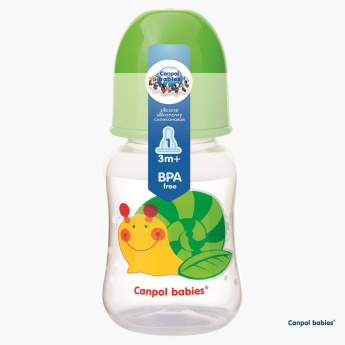Canpol Babies Happy Garden Design Snail Printed Baby Bottle - 120 ml