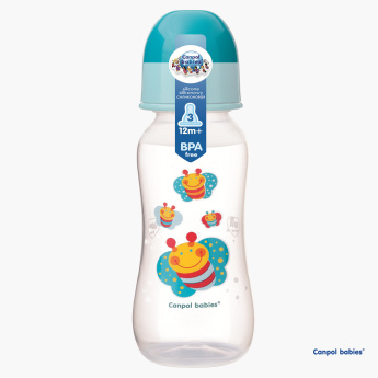 Canpol Babies Butterfly Printed Anti-Colic Feeding Bottle - 240 ml