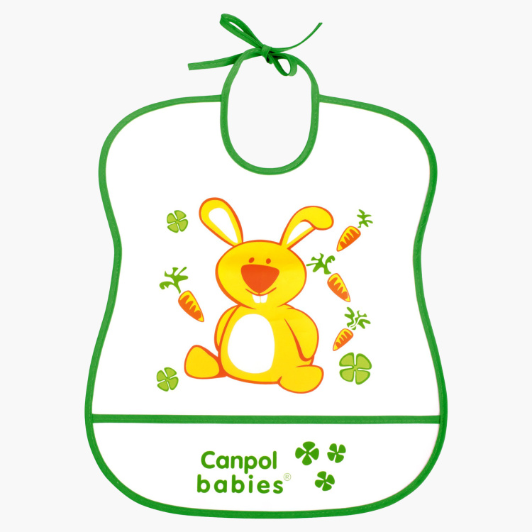 Canpol Babies Happy Animal Rabbit Printed Bib