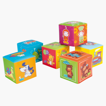 Canpol Babies Soft Squeeze Cube Blocks Playset