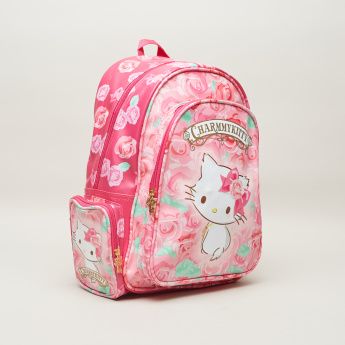 Charmmy Kitty Printed Backpack with Adjustable Straps - 16 inches