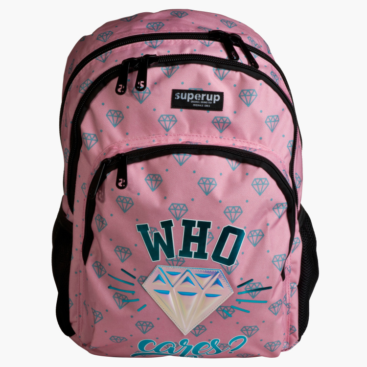 Dis2 Printed Backpack with Pencil Case - 18 inches