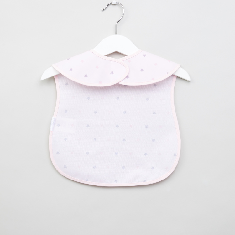 Cambrass Printed Bib with Snap Button Closure