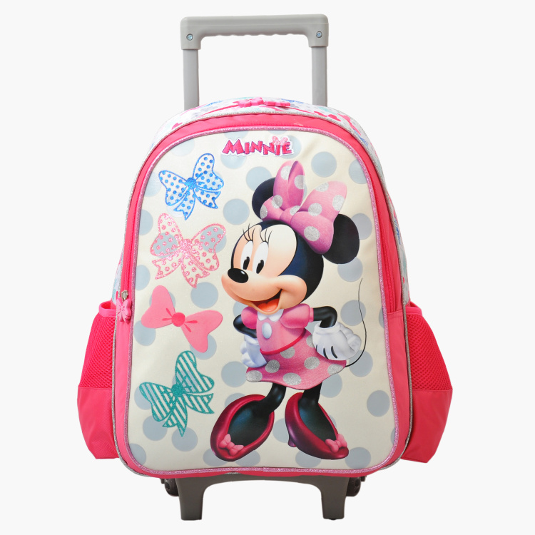 Minnie Mouse Printed Trolley Bag - 16 inches