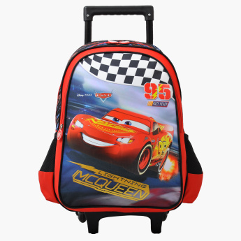 Cars Printed Trolley Backpack with Retractable Handle